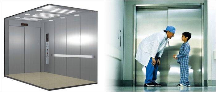 thang máy bệnh viện là phương tiện vận chuyển phổ biến tại các trung tâm y tế